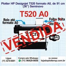 Plotter HP T520 formato A0 usada a venda